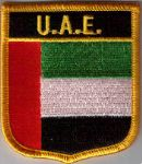 United Arab Emirates (UAE) Embroidered Flag Patch, style 07.